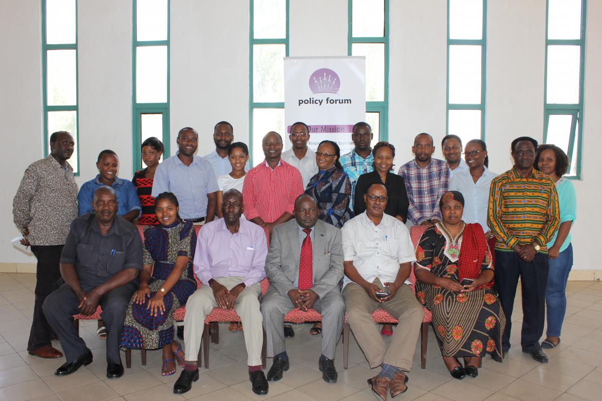 Policy Forum   Making policies work for people in Tanzania